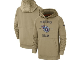 Mens Nfl Tennessee Titans Nike Tan 2019 Salute To Service Sideline Therma Pocket Pullover Hoodie