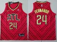 Mens Nba Atlanta Hawks #24 Bruno Fernando Red Nike Alternate Jersey