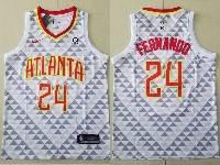 Mens Nba Atlanta Hawks #24 Bruno Fernando White Nike Association Edition Jersey