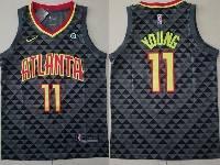 Mens Nba Atlanta Hawks #11 Trae Young Black Nike Icon Edition Jersey