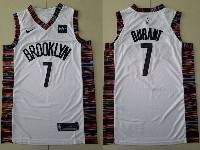 Mens 2019 New Nba Brooklyn Nets #7 Kevin Durant White City Edition Nike Jersey