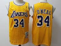 Mens Nba Los Angeles Lakers #34 O'neal Gold Hardwood Classics Swingman Jersey