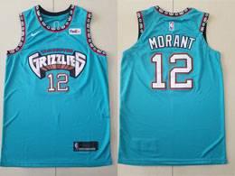 Mens Nba Memphis Grizzlies #12 Ja Morant Green Nike Swingman Jersey