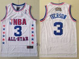 Mens Reebok Nba Philadelphia 76ers #3 Allen Iverson White 2003 All-star Swingman Jersey