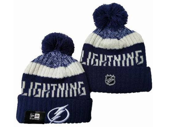 Mens Nhl Tampa Bay Lightning Blue&white Sport Knit Hats