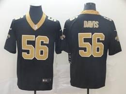 Mens Nfl New Orleans Saints #56 Demario Davis Black Vapor Untouchable Limited Jerseys