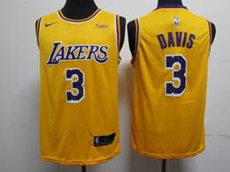 Mens Nba Los Angeles Lakers #3 Anthony Davis Yellow New Nike Jersey