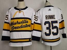 Mens Nhl Nashville Predators #35 Pekka Rinne White 2019 Winter Classic Adidas Jersey