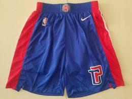 Mens Nba Detroit Pistons Blue Nike Shorts