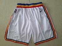 Mens Nba Golden State Warriors White Nike Shorts