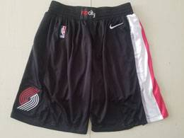 Mens Nba Portland Trail Blazers Black Nike Shorts