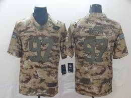 Mens Women Nfl San Francisco 49ers #97 Nick Bosa 2018 Camo Salute To Service Limited Jersey