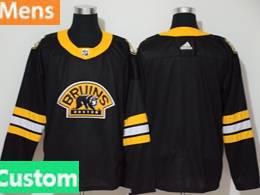 Mens Nhl Boston Bruins Custom Made Black 3rd Inverted Legend Adidas Jersey