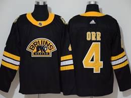 Mens Nhl Boston Bruins #4 Bobby Orr Black 3rd Inverted Legend Adidas Jersey