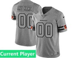 Mens Nfl Cincinnati Bengals Current Player Heather Grey Retro Vapor Untouchable Limited Jersey