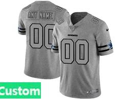 Mens Nfl Dallas Cowboys Custom Made Heather Grey 2019 New Vapor Untouchable Limited Jersey