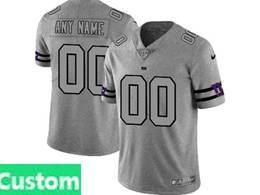 Mens Nfl New York Giants Custom Made Heather Grey 2019 New Vapor Untouchable Limited Jersey