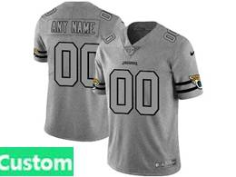 Mens Nfl Jacksonville Jaguars Custom Made Heather Grey 2019 New Vapor Untouchable Limited Jersey