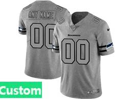 Mens Nfl Seattle Seahawks Custom Made Heather Grey 2019 New Vapor Untouchable Limited Jersey
