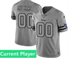 Mens Nfl Tennessee Titans Current Player Heather Grey Retro Vapor Untouchable Limited Jersey