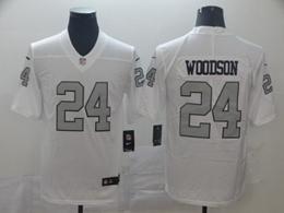 Mens   Oakland Raiders #24 Charles Woodson White Color Rush Vapor Untouchable Limited Nike Jerseys
