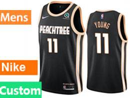 Mens Nba Atlanta Hawks Custom Made Black City Edition Nike Swingman Jersey