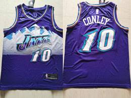 Mens Nba Utah Jazz #10 Mike Conley Purple Nike Swingman Jersey