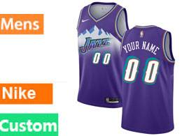 Mens Nba Utah Jazz Custom Made Purple Nike Swingman Jersey