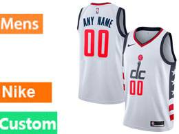 Mens Nba 2019-2020 Washington Wizards Custom Made White City Edition Nike Swingman Jersey