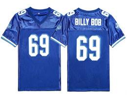 Mens Nfl #69 Billy Bob Varsity Blues West Canaan Movie Stitched Blue Football Jersey
