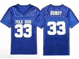 Mens Nfl #33 Al Bundy Polk High Married Movie Stitched Blue Football Jersey