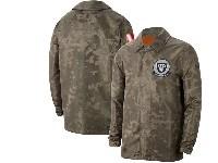 Mens Nfl Oakland Raiders Nike Camo 2019 Salute To Service Sideline Full-zip Lightweight Jacket
