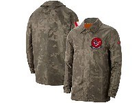 Mens Nfl Houston Texans Nike Camo 2019 Salute To Service Sideline Full-zip Lightweight Jacket