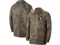 Mens Nfl Minnesota Vikings Nike Camo 2019 Salute To Service Sideline Full-zip Lightweight Jacket