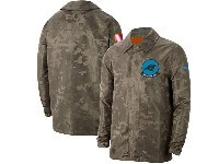 Mens Nfl Carolina Panthers Nike Camo 2019 Salute To Service Sideline Full-zip Lightweight Jacket