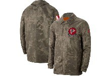 Mens Nfl Atlanta Falcons Nike Camo 2019 Salute To Service Sideline Full-zip Lightweight Jacket