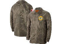 Mens Nfl Green Bay Packers Nike Camo 2019 Salute To Service Sideline Full-zip Lightweight Jacket