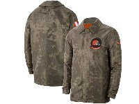 Mens Nfl New Cleveland Browns Nike Camo 2019 Salute To Service Sideline Full-zip Lightweight Jacket