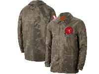 Mens Nfl Tampa Bay Buccaneers Nike Camo 2019 Salute To Service Sideline Full-zip Lightweight Jacket
