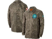 Mens Nfl Miami Dolphins Nike Camo 2019 Salute To Service Sideline Full-zip Lightweight Jacket