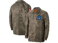 Mens Nfl Indianapolis Colts Nike Camo 2019 Salute To Service Sideline Full-zip Lightweight Jacket