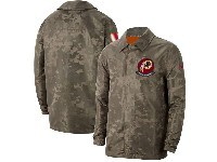 Mens Nfl Washington Redskins Nike Camo 2019 Salute To Service Sideline Full-zip Lightweight Jacket