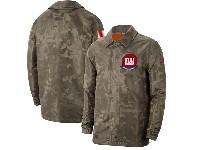 Mens Nfl New York Giants Nike Camo 2019 Salute To Service Sideline Full-zip Lightweight Jacket