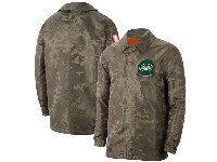 Mens Nfl New York Jets Nike Camo 2019 Salute To Service Sideline Full-zip Lightweight Jacket