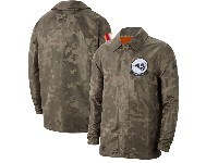 Mens Nfl Los Angeles Rams Nike Camo 2019 Salute To Service Sideline Full-zip Lightweight Jacket