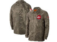 Mens Nfl Kansas City Chiefs Nike Camo 2019 Salute To Service Sideline Full-zip Lightweight Jacket