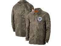 Mens Nfl Dallas Cowboys Nike Camo 2019 Salute To Service Sideline Full-zip Lightweight Jacket