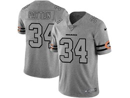 Mens Nfl Chicago Bears #34 Walter Payton Heather Grey 2019 New Vapor Untouchable Limited Jersey