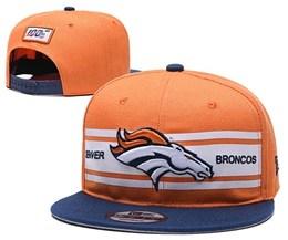 Mens Nfl Denver Broncos Orange 100th Snapback Adjustable Hats
