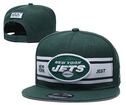 Mens Nfl New York Jets Green 100th Snapback Adjustable Hats